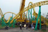 Intamin coaster tracks at Happy Valley near Shanghai