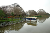 Huge wooden roller coaster