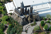 Harry Potter castle from above