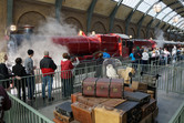 Hogwarts Express train, connecting the two parks
