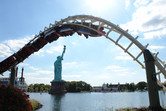 Coaster over Statue of Liberty