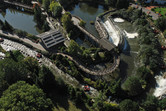 River rapids ride from above