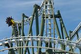 Suspended roller coaster