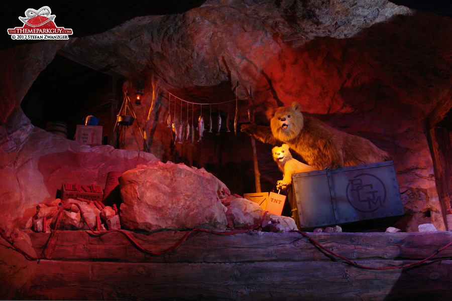Grizzly bear animatronics