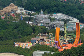 Grizzly Gulch coaster (left), Mystic Manor dark ride (middle), Toy Story Land (right)