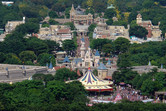 Hong Kong Disneyland seen from a very unique angle