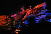 Big Grizzly Mountain Runaway Mine Cars at night