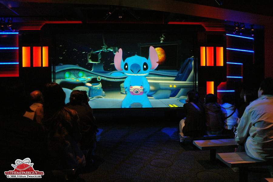 Stitch, communicating with the audience