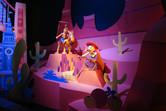Disney characters at Hong Kong Disneyland's It's a Small World