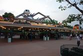 Hong Kong Disneyland entrance during Halloween
