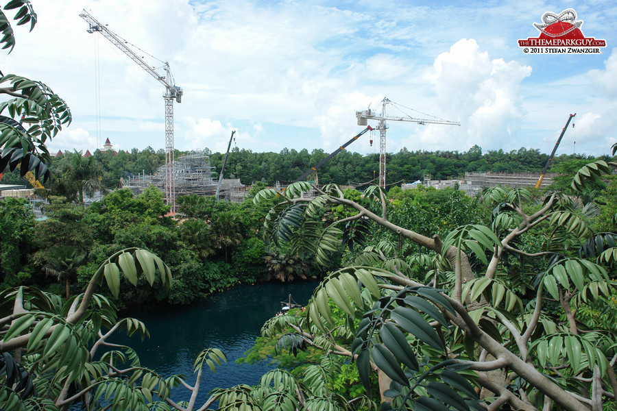 Hong Kong Disneyland expansion, seen from Tarzan's Tree House