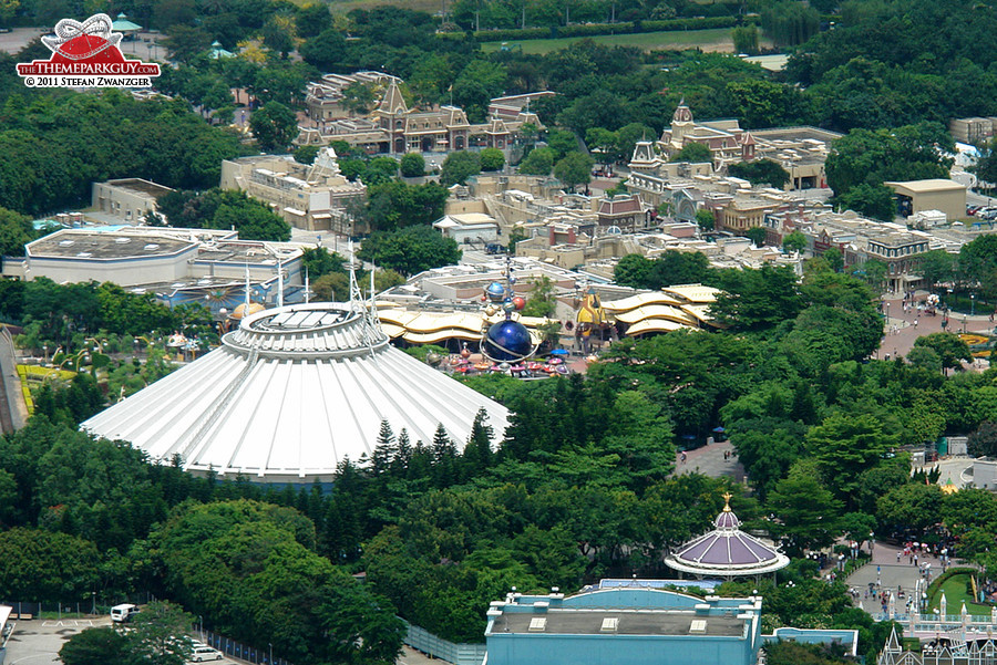 Space Mountain and Tomorrowland