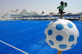 Water soccer pitch