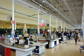 Tesco supermarket on the grounds of a former Elstree studio building