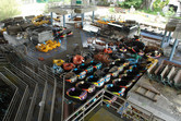 Abandoned bumper cars, boats and benches