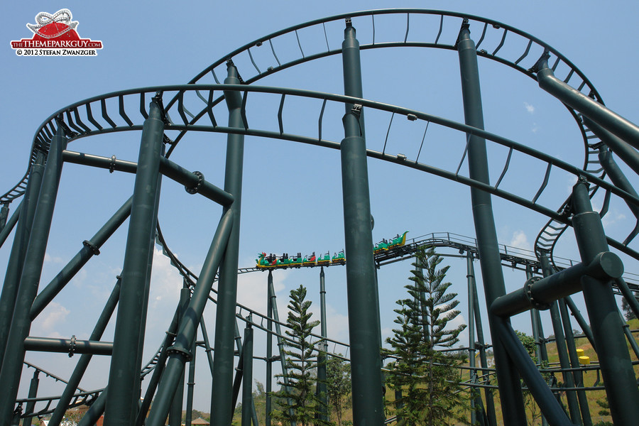 The Dragon roller coaster at Legoland Malaysia