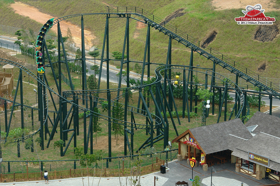 The Dragon coaster aerial view