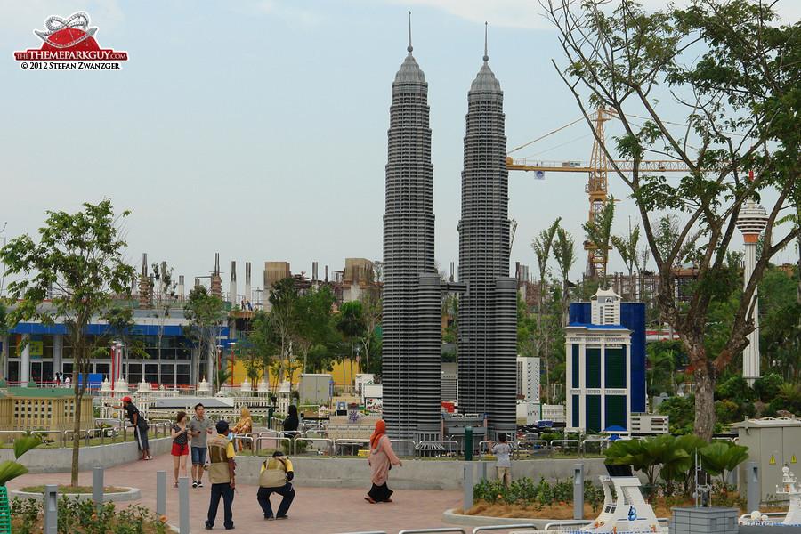 Kuala Lumpur's Petronas Towers made of Lego bricks