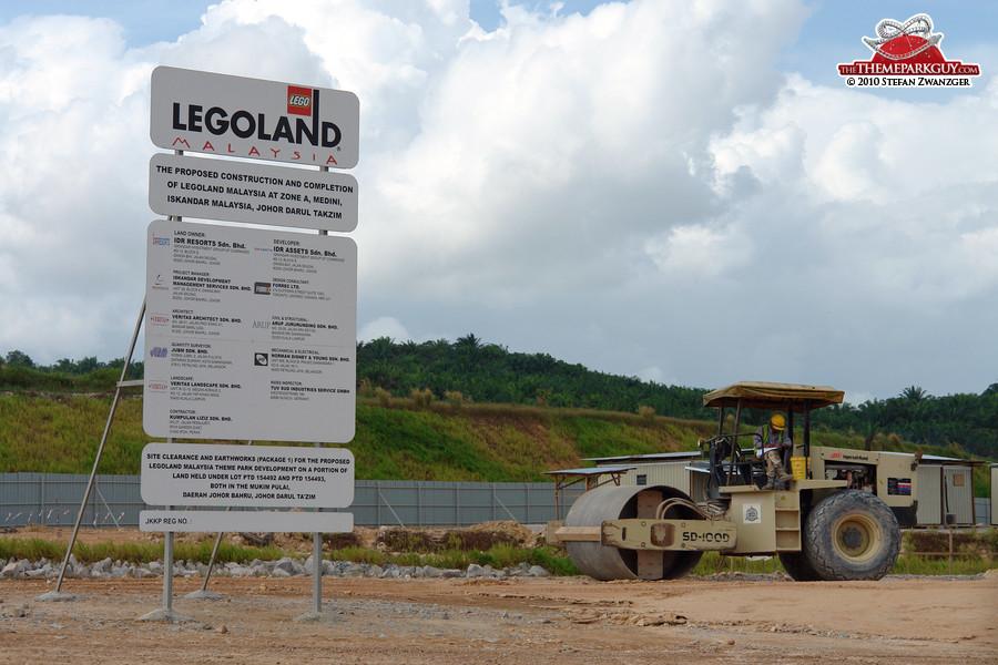 Legoland Malaysia construction board