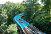 Flume ride on the hill