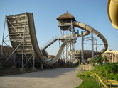 Thrilling U-shaped water slide