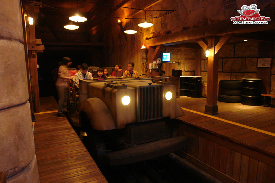 Adventure ride, inspired by Disney's Indiana Jones Adventure