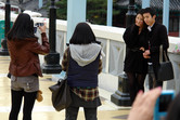 Stylish Korean visitors