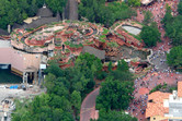 Splash Mountain from above