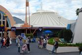 Space Mountain indoor roller coaster