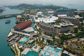 Southeast Asia Aquarium from above (it's all underground)