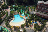 Wave pool and main slide section of the park
