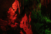 Artificial stalactite cave inside the castle - the ancestor of Big Thunder Mountain?