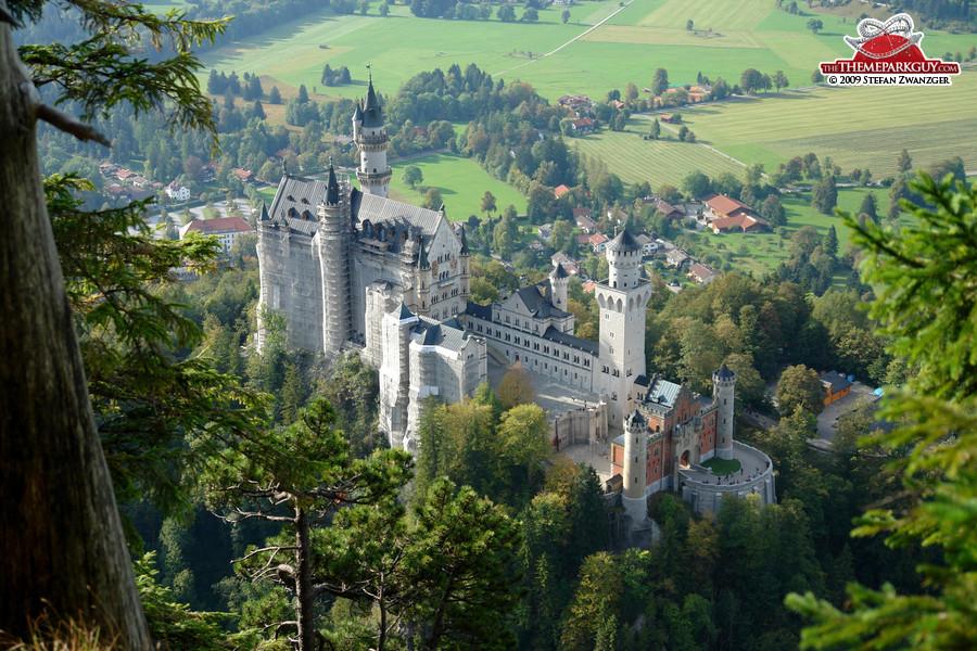 Neuschwanstein Castle from above