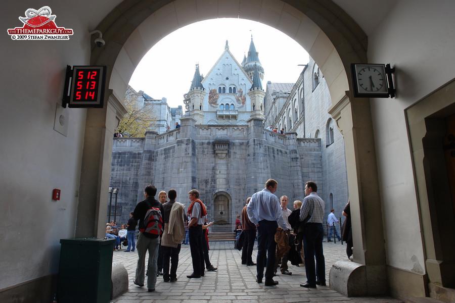 Entering the courtyard