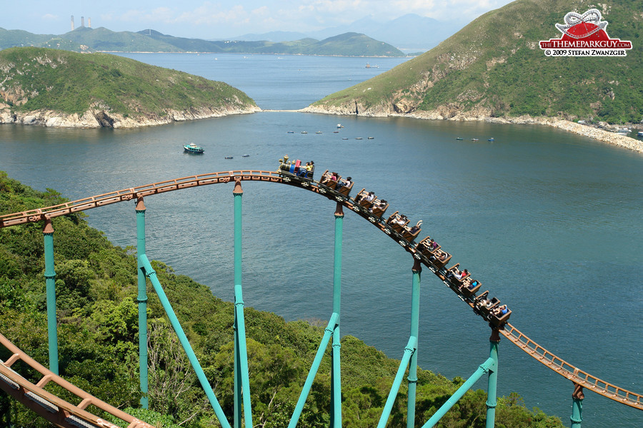 Roller coaster with a view