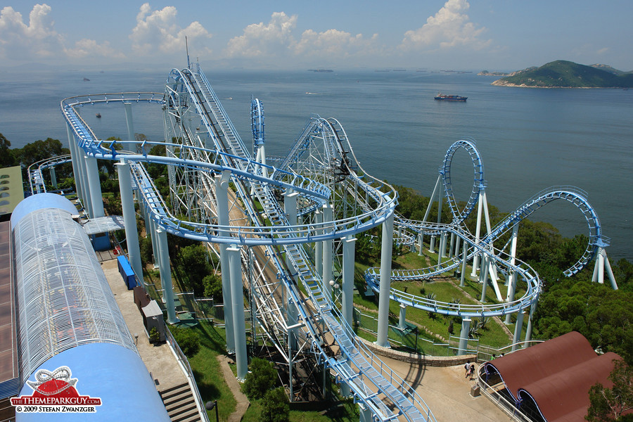 Another roller coaster with a view