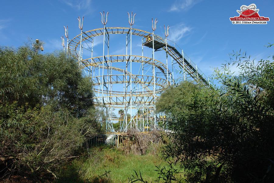 Overgrown coaster