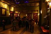 Atmospheric Batman queue inside the building