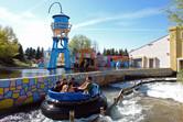 Warner Brothers theme park Madrid river rapids ride