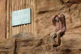 The eternally climbing Native American animatronic