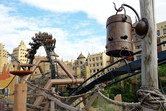 Suspended roller coaster at Phantasialand's Africa section