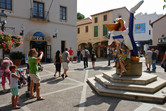 PortAventura entrance. Universal Studios' Woody Woodpecker is still here!