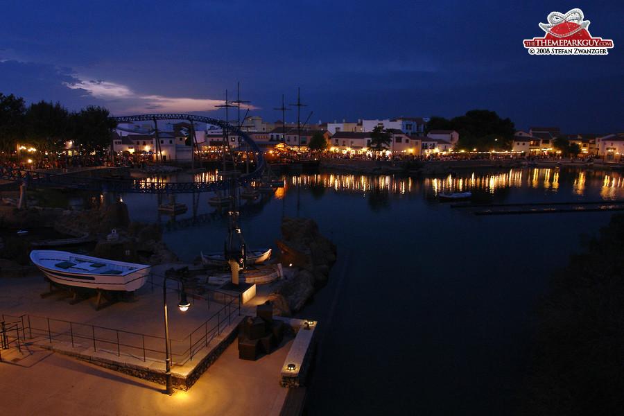 PortAventura in the evening
