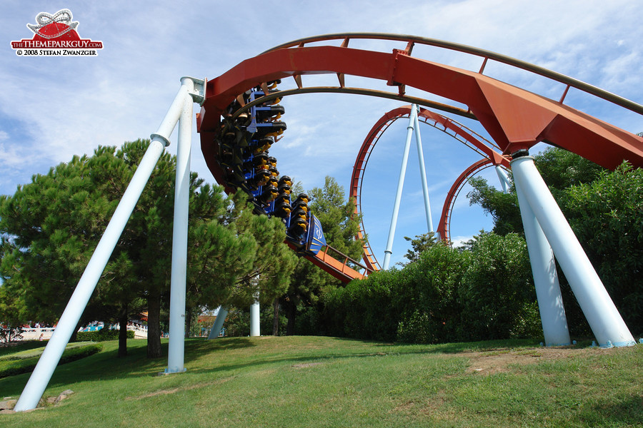 Coastering through well-manicured landscape