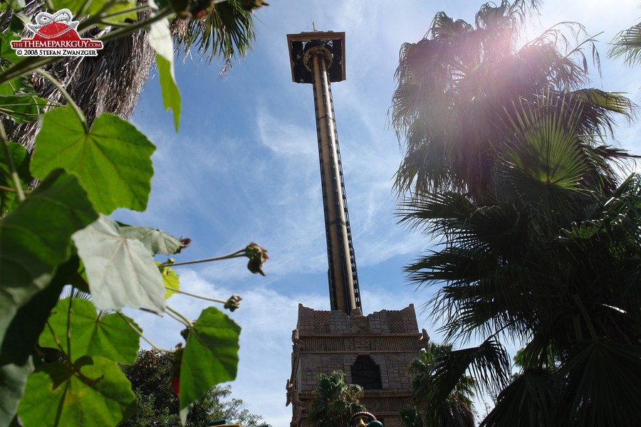 Mexican-themed drop tower