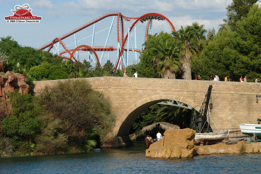 PortAventura is one hour's drive south of Barcelona