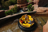 River rapids ride on two levels