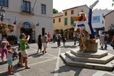 PortAventura entrance. Universal Studios' Woody Woodpecker is still here!