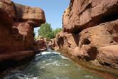 River rapids ride POV