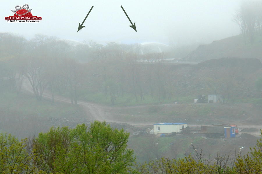 Closer look. Hardly visible in the fog.